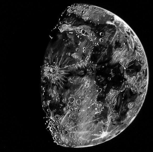 80% Waxing Gibbous Moon Sketch