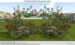 """.:Tm:.Creation """"The Rose Garden"""" Nature Scene AG24"""