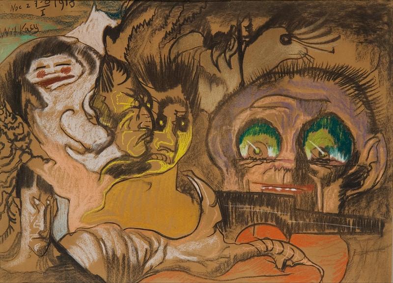 Stanisław Ignacy Witkiewicz - Green Eye Composition, 1918