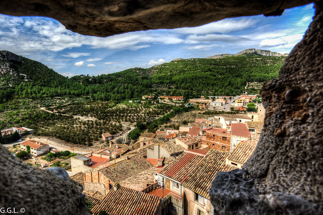 Pratdip. Baix Camp. El poble desde el castell.