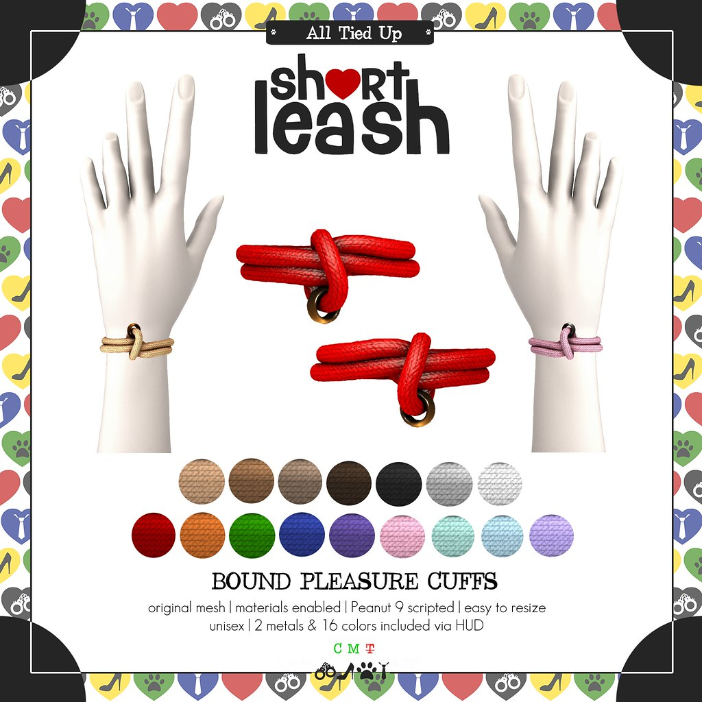 .:Short Leash:. Bound Pleasure Cuffs