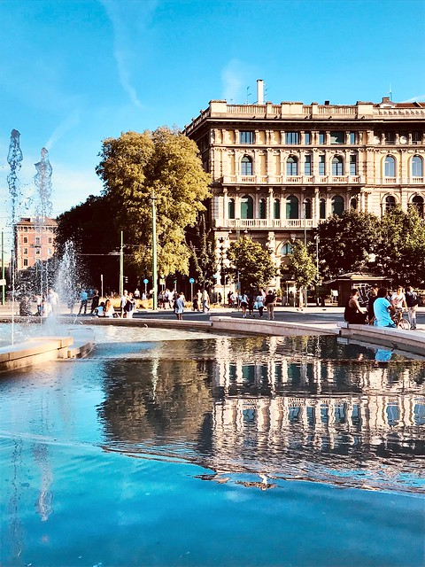 Reflections - Piazza Castello, Milan, Italy.
