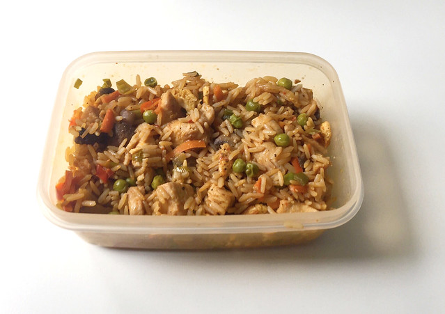 Asian fried rice with marinated chicken - Leftovers III / Asiatischer Bratreis mit mariniertem Huhn - Resteverbrauch III