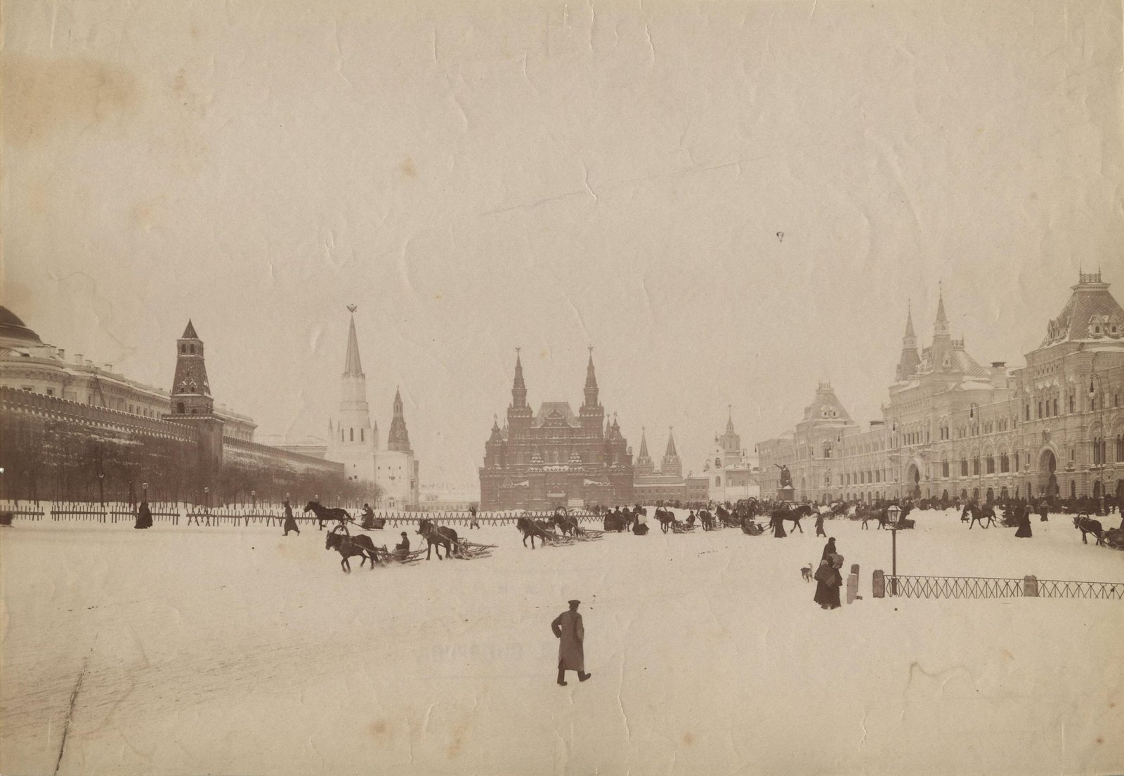 Вид Красной площади зимой