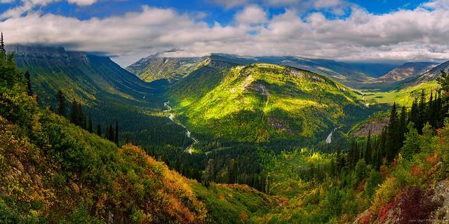 Glacial Valley in Montana's Glacier National Park