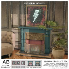Atelier Burgundy . Glam Rock Teal