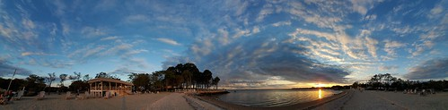 6 panoramic norwalkct bayleybeachrowaytonct sky clouds sunset longislandsound 1809hours