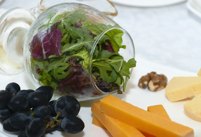 Salad in a glass.