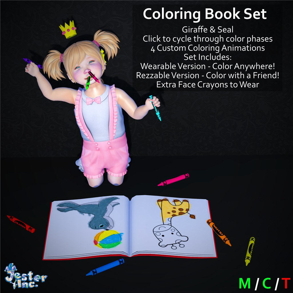 Presenting the new Coloring Books from Jester Inc.