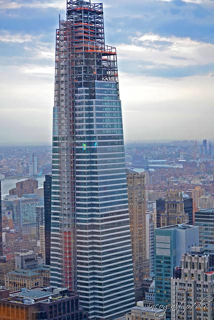 One Vanderbilt Skyscraper Tower View from Bar SixtyFive Top of the Rock Rockefeller Center Midtown Manhattan New York City NY P00673 DSC_9661