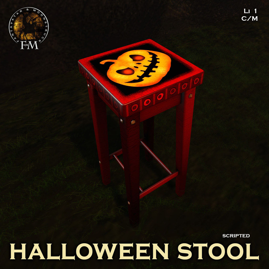 F&M * Halloween Stool