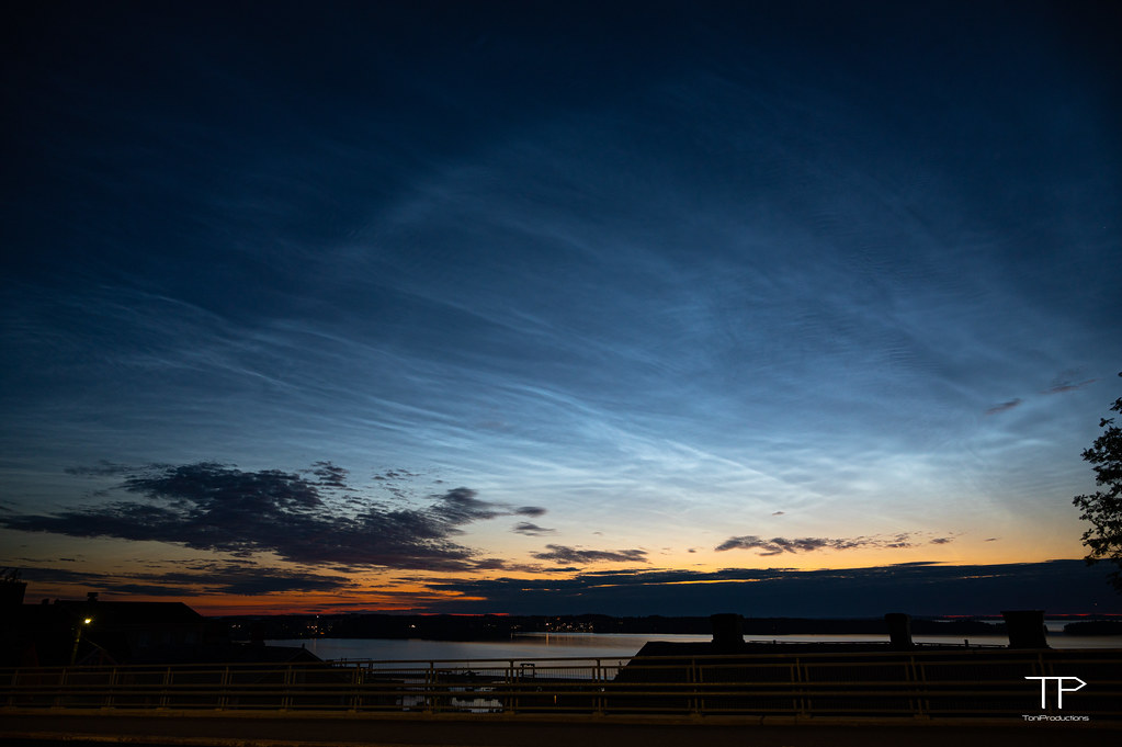 Late night summer sky in Tampere
