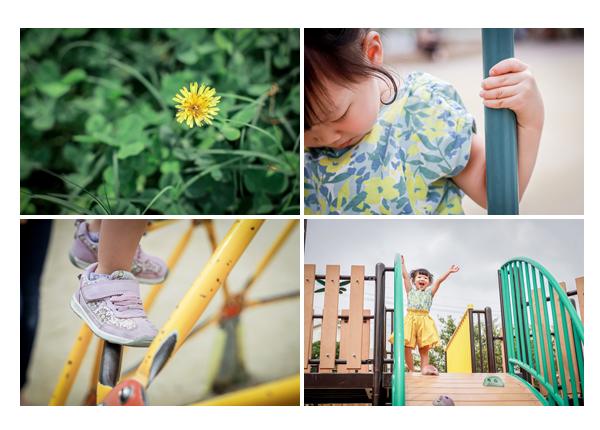 公園で遊ぶ女の子 タンポポ