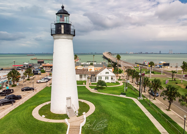Port Isabel Lighthouse with some moody clouds