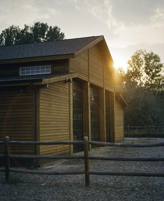 Beautiful Barn Sunset