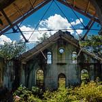 Blue Sky Above Duppy Church, Mile Gully Jamaica
