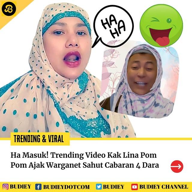 &Quot;Ha Masuk!&Quot; Trending Video Kak Lina Pom Pom Ajak Warganet Sahut Cabaran 4 Dara