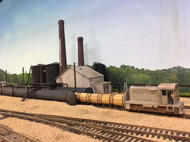 Railroad tie treating plant on the Prairie Scale Model Railroad Club.