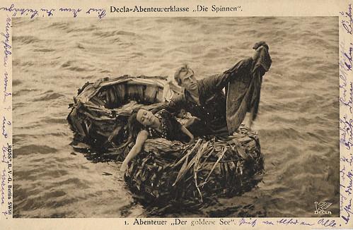 Carl de Vogt and Lil Dagover in Die Spinnen, 1. Teil - Der Goldene See (1919)