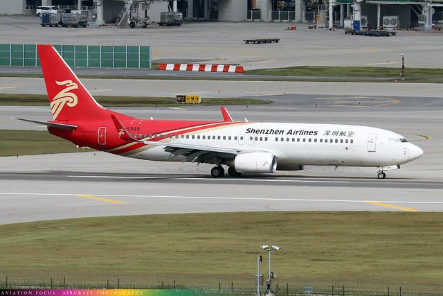 B-5345  -  Boeing 737-86N  -  Shenzhen Airlines  -  ICN/RKSI 6/10/19