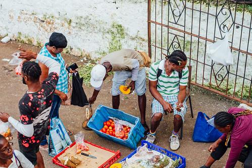 adamcohn jamaica mandevillejamaica market streetphotographer streetphotography vegetables vendor