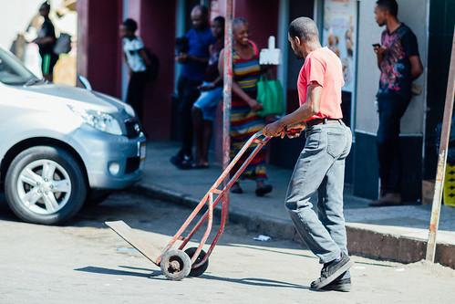 adamcohn jamaica mandevillejamaica dolly handcart man streetphotographer streetphotography