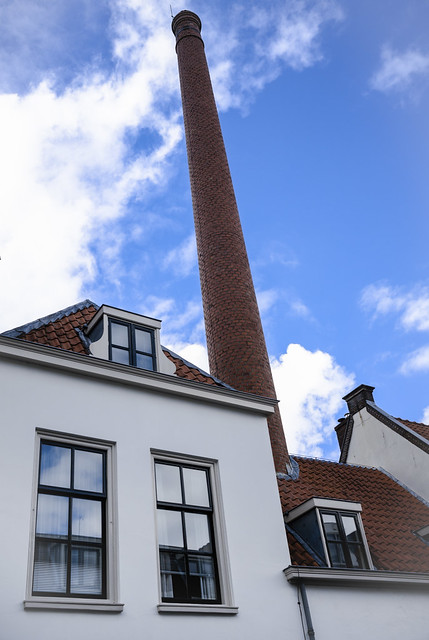 The tall chimney in Keizerstraat, Utrecht