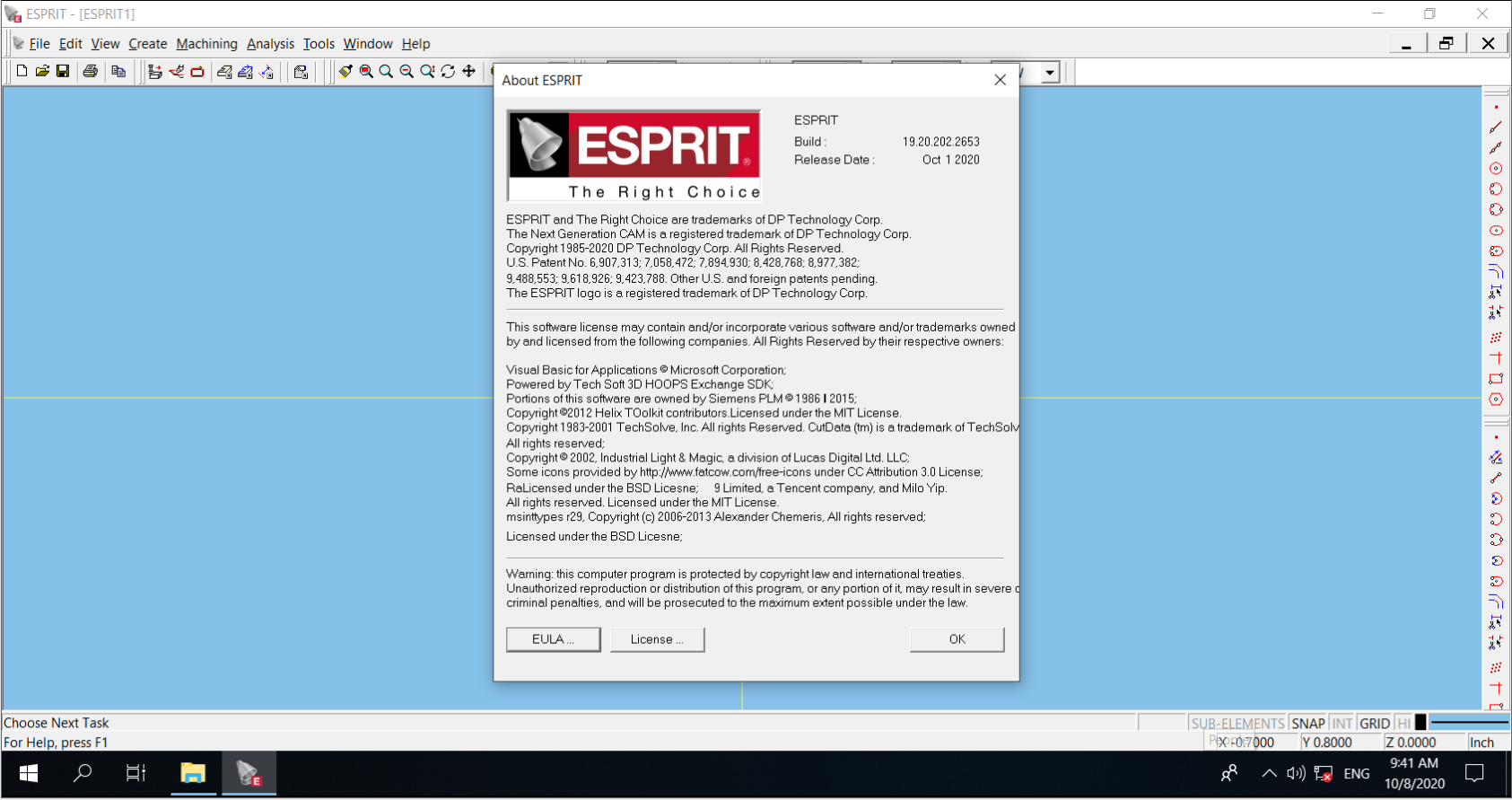 Working with ESPRIT 2020 R2 B19.20.202.2645 full license