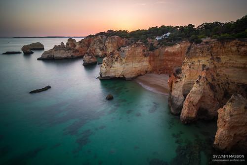 algarve alvor atlantique beach couchant ocean plage seascape sky sunset moon moonrise pauselongue portugal sea