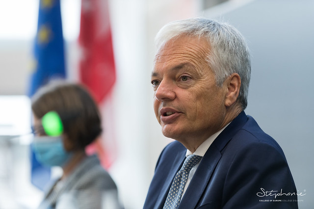Conference talk with Mr Didier REYNDERS, Commissioner for Justice.7 October 2020