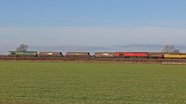 Freightliner 66555 & DBS 66185