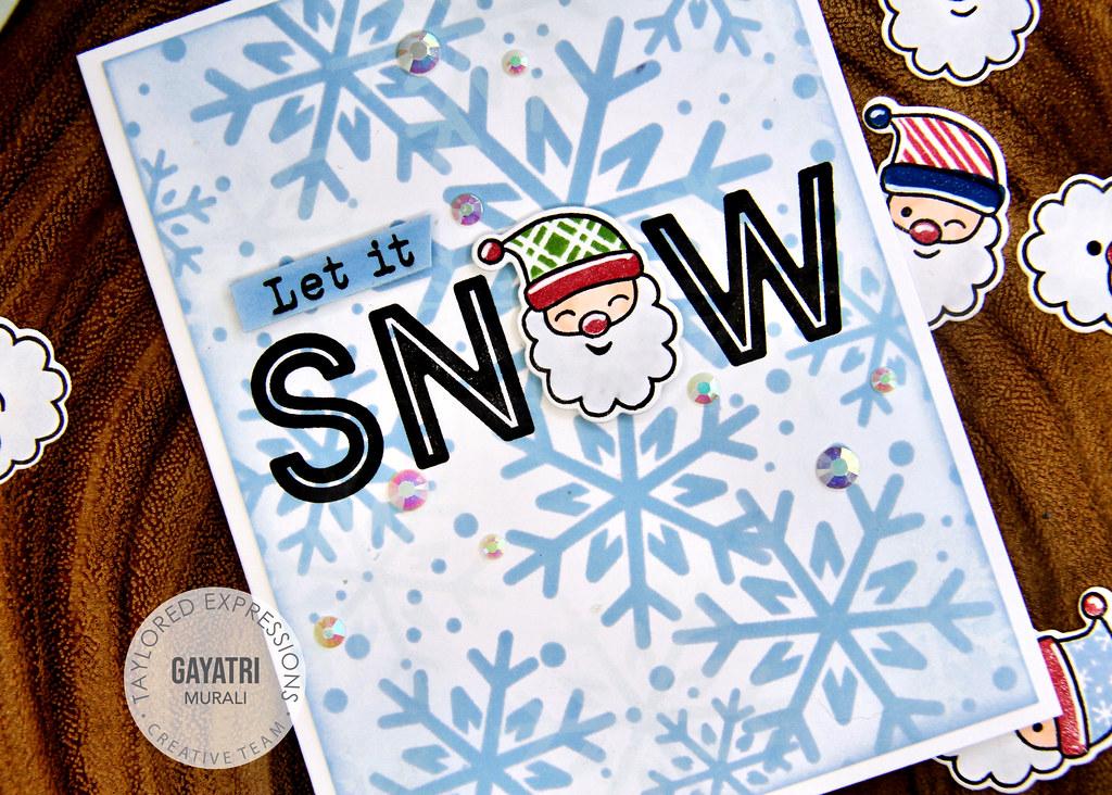 Christmas card #1 closeup