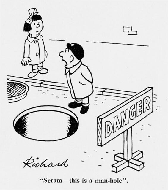 Meccano Magazine Cartoon 1963 Man Hole