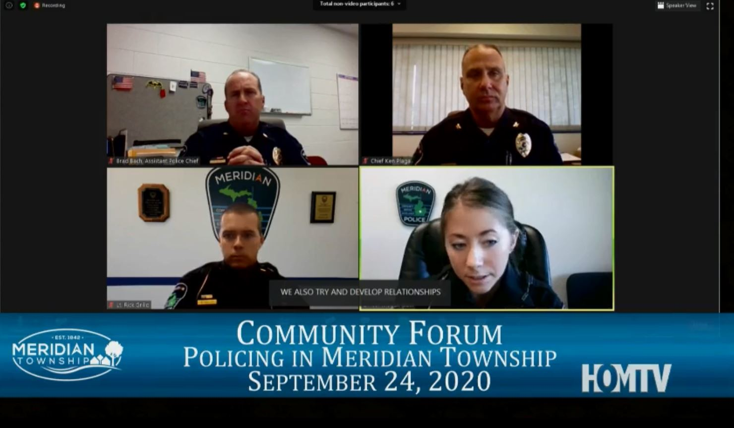 Virtual Community Forum on Policing