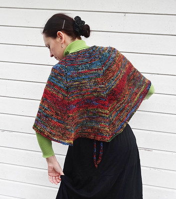 Tunisian crochet shawl, hook 5