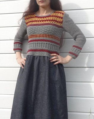 crochet top dress, Drops loves you 8\4 and leftovers