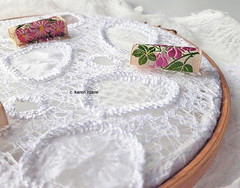 embroidery, lace like surfaces
