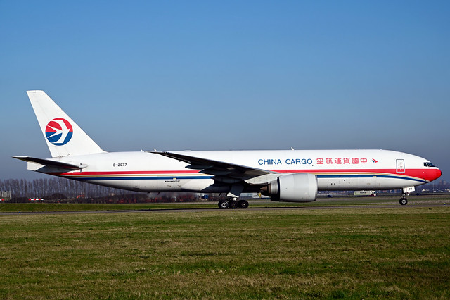B-2077 B777-F6N cn 37713 China Cargo Airlines 200207 Schiphol 1003