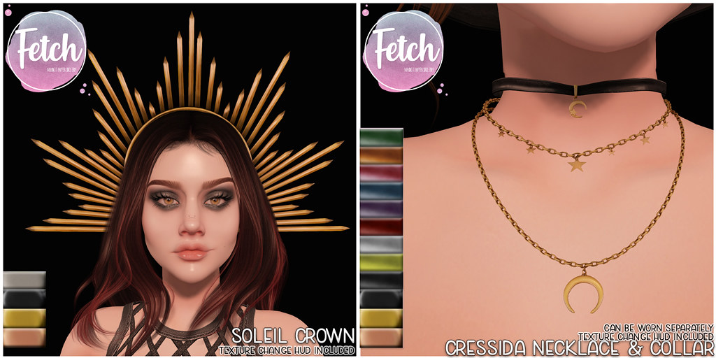 [Fetch] Soleil Crown & Cressida Necklaces