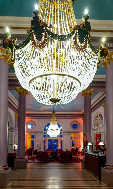 Grand Hôtel Cabourg main entrance and hotel lobby