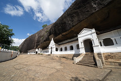 Dambulla Cave Temple in Sri Lanka, an ancient Buddhist temple built in a cave