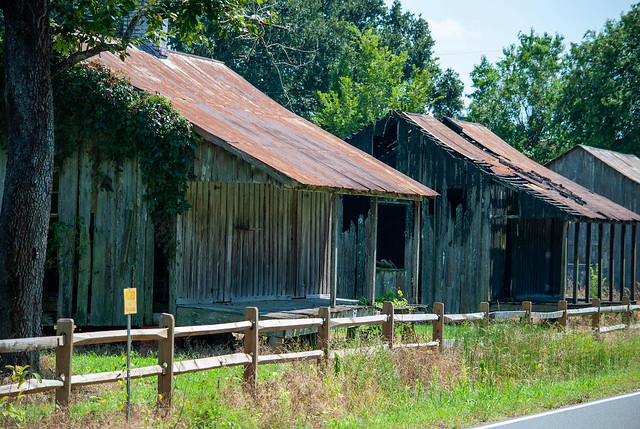 Old Slave Cabins in Thibadeaux