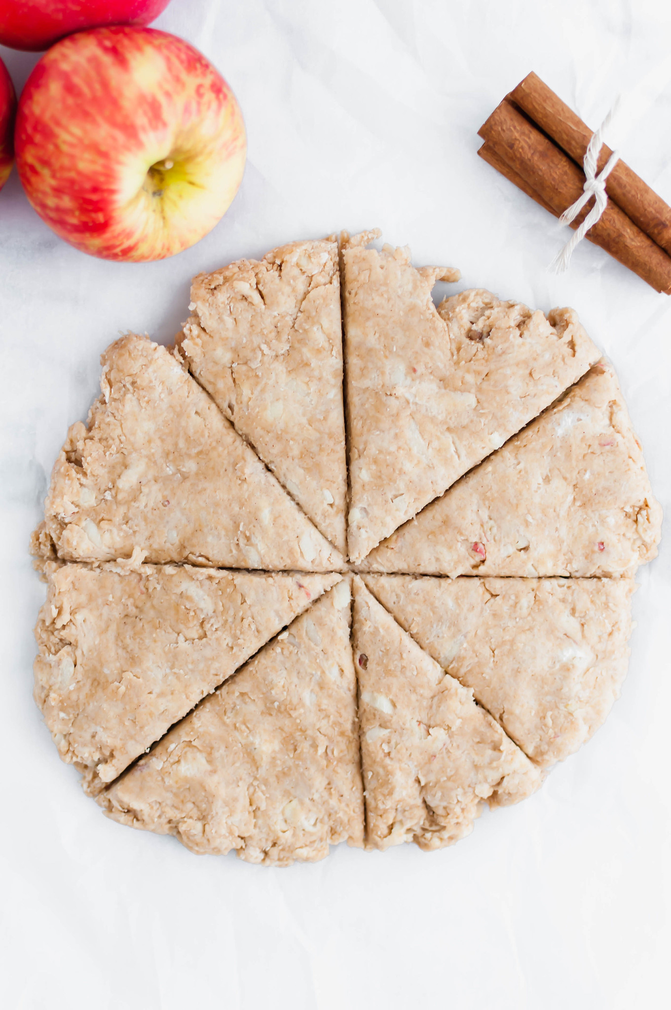 These Apple Cinnamon Scones with Maple Glaze are the perfect fall treat. Easy to make and perfectly tender.