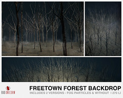 NEW! Freetown Forest Backdrop @ C88