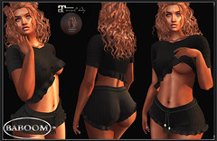 baboom Lilly Shorts -Shirt-black