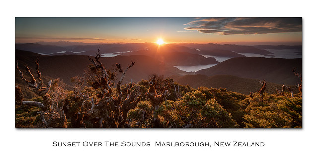 Sunset over the Sounds