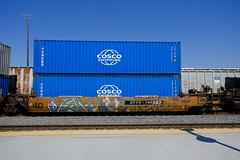 Freight Graffiti at Santa Fe Depot in SoCal - Sept. 26th 2020
