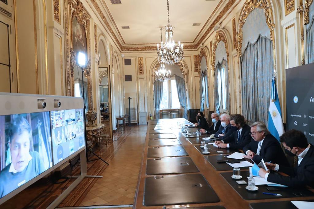 2020-10-08 PRENSA Uñac analizó junto al presidente y el resto de los gobernadores la situación sanitaria del país (1)