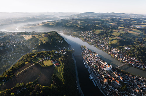 Sunrise over Passau - no drone involved 😉 | by desomnis