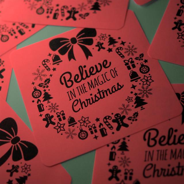 ダイソー カドを丸く切れる コーナーパンチ かどまるくん クリスマスカード